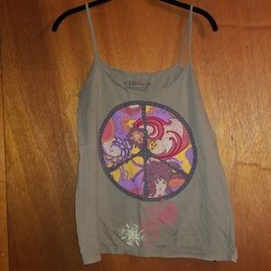 Vintage Peace Sign Tank, Juniors Size M
